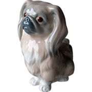 Early Lladro Porcelain Pekingese Dog Figurine