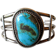 Silver & Turquoise Cuff Style Bracelet
