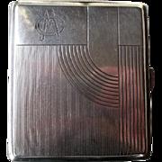 Art Deco 800 Silver Cigarette Case
