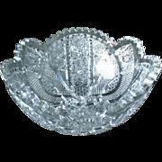 Stunning American Brilliant Period Cut Crystal Bowl