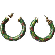 Fabulous Vintage Cloisonne Earrings