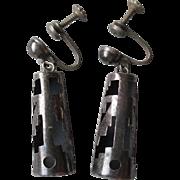 """Charming Pair of """"Alpaca"""" Cutout Earrings"""