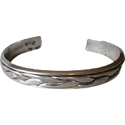 Beautiful Mexican Sterling Silver Cuff Bracelet