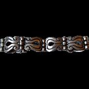 Early Taxco Mexico Stylized Sterling Silver Bracelet