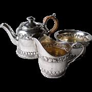 Gorgeous Gorham Sea Shell Theme Sterling Silver3 Piece Tea Set