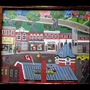 "Original Naive or Folk Art Oil Painting from Muskoka, Ontario - ""J Barnes"""