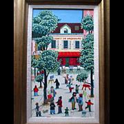 Original French Naive or Folk Art Oil Painting - Alexis - Le Cadet de Gascogne