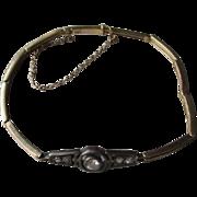 Gorgeous 14k Gold and Diamond Edwardian Link Style Bracelet