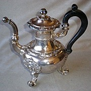 Magnificent Etienne-Auguste Courtois French Sterling Teapot