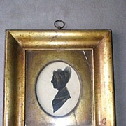 Magnificent Early 19th Century Herve' Silhouette Portrait