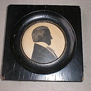 Marvelous 19th Century Miniature Silhouette Portrait - Gentleman