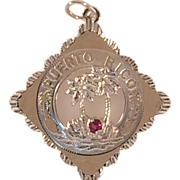 Sterling Silver Charm or Pendant of Puerto Rico