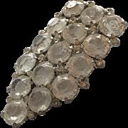 Vintage Clear Crystal, Open-back Sparkling Fur Clip