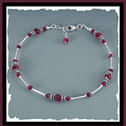 SOLD Red Sparking Sexy Swarovski Crystal Anklet - Not Just for Valentine's Day