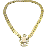 Victorian Gold Filled Book Chain with Pendant Necklace