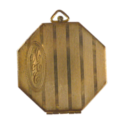 1930's Octagon Double Picture Locket Initial MAC