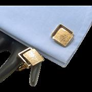 Krementz Brushed Gold Tone Square Cufflinks Cuff Links