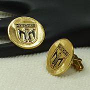 Munchen Munich Shield Gold Tone Cuff Link Cufflinks