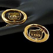 Cotton Belt Railroad 100 Year Bullet Cufflinks Cuff Links