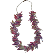 Purple, Pink and Blue Sea Shell Necklace