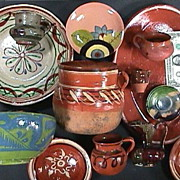 SALE Thirteen Mexican Pottery Vessels for Collector or Cinco de Mayo Decorator (mid 20th ...
