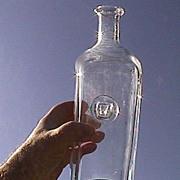 SALE Erik Hoglund Hand Blown Flint Glass Bottle with Ox Seal from Kosta Boda 20th C
