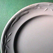 SALE c1860 Corn and Wheat Pattern Ironstone Plate (marked J Wedgwood)