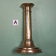 SOLD c1790 hollow cast & turned brass Candlestick with side ejector (two available)