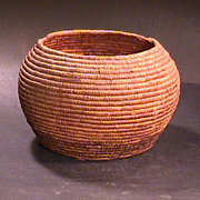 SALE Early 1900s Native North American Coiled Grass Basket (maximum ca. 10 inch diam.)