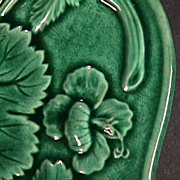 SOLD mid-1800s Emerald Green Molded Platter or Tray by Davenport (perfect)
