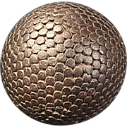 SOLD Nail studded Lignum Vitae Lawn Bowling Ball from mid to late 1800s (4 inch diam)