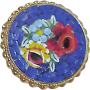 REDUCED Vintage Italy Micro Mosaic Brooch