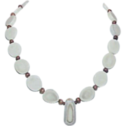 REDUCED Native American Sliced Bone Necklace