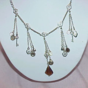 SALE ON SALE Silvertone Charm Necklace
