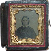 SALE Antique Daguerreotype Ferrotype Victorian Lady