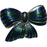 REDUCED Colorful PARK LANE Enamel Bow Brooch