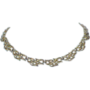 SALE TRIFARI Gold Tone Metal Necklace