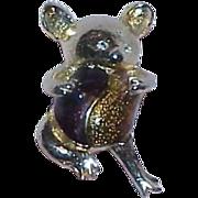 REDUCED Vintage Lucite Bubble Koala Bear Brooch