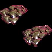 Vintage Sophisticated Silvertone TRIFARI Earrings