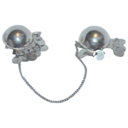 REDUCED NATACHA BROOKS Sterling Doubles/Chatelaine Brooches