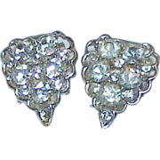 REDUCED Clear Rhinestone Heart Shaped Shoe/Dress Clips