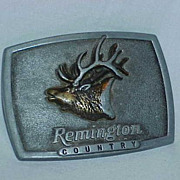 "SALE Remington ""Bugling Elk"" By Sid Bell Belt Buckle"