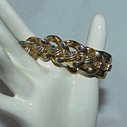 Sophisticated Gold Tone Estate Bracelet