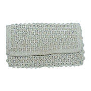 REDUCED Rosenfeld Beige Bead Evening Bag Clutch