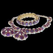 SALE Vintage HATTIE CARNEGIE Full Parure Necklace Bracelet Earrings