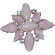 REDUCED Juliana Style Pink Opaque Stone Brooch