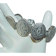 REDUCED Silvertone Articulated Estate Bracelet