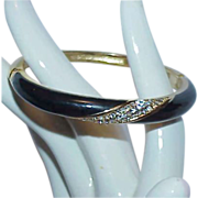 REDUCED Designer CHRISTIAN DIOR Hinged Enamel Crystal Rhinestone Bracelet