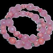 REDUCED Orange Sherbert/Salmon Pink Flex Necklace/Bracelet