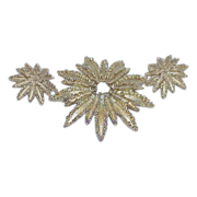 REDUCED Vintage AVON Starflower Collection Brooch and Earring Set - Demi Parure